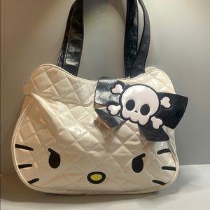 Hello Kitty Sanrio Loungefly skull bow tote bag